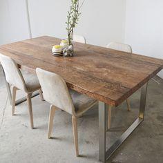 Genial Esstisch Holz Metall