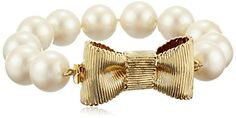 Kate Spade New York Women's All Wrapped Up Pearl Bracelet Cream/Gold Link Bracelet One Size ** CHECK OUT @ http://www.ilikeboutique.com/boutique/kate-spade-new-york-womens-all-wrapped-up-pearl-bracelet-creamgold-link-bracelet-one-size/?a=4478