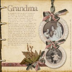 pages from handmade family history books memorial pages for a family history scrapbook Heritage Scrapbook Pages, Vintage Scrapbook, Scrapbook Page Layouts, Scrapbook Cards, Scrapbooking Ideas, Digital Scrapbooking, Family History Book, History Books, Books For Moms