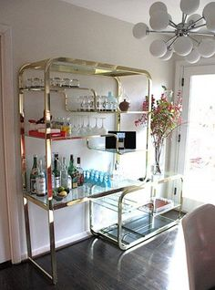 Gold 70s Drinks Wall Shelving