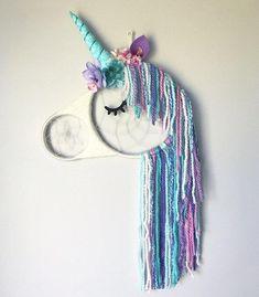 Unicorn dreamcatcher, sleepy unicorn, unicorn eyelashes, unicorn gift, gold, unicorn, dreamcatcher, unicorn decor, magical