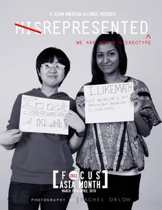 This is a visual ad aimed to break on of the stereotypes of Asians that all Asians are good at math. http://mixingupblog.wordpress.com/2012/04/05/asianasian-american-identity-campaign-at-ic/asian-stereotype-2/