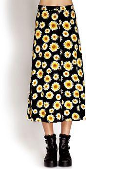 Sunflower Midi Skirt | FOREVER21 - 2000063279 #F21CRUSH