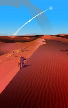 Cosimo Galluzzi's illustration and concept art portfolio Fantasy Places, Sci Fi Fantasy, Environment Concept Art, Environment Design, Spaceship Art, Landscape Concept, Fanart, Science Fiction Art, Natural Scenery