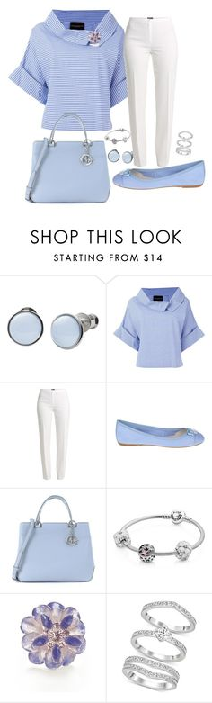 """Cornflower"" by sommer-reign ❤ liked on Polyvore featuring Skagen, Erika Cavallini Semi-Couture, Basler, ANNA BAIGUERA, Michael Kors, Pandora, Napier and Swarovski"