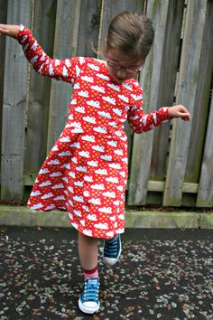The Skater Dress sewing pattern -18m/2T, 3T/4T, 5Y/6Y, 7Y/8Y - pdf  Cotton knit dress pattern