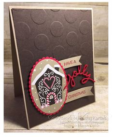 """Faithful INKspirations: Creation Station: To Die For! is made with Stampin' Up's """"Holly Jolly Greetings"""" stamp set."""