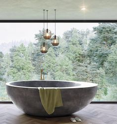 Exciting Bathtub Shower Combo Ideas For Wonderful Bathroom Area Design Bathroom Design Luxury, Bathroom Interior, Bathroom Taps, Bath Design, Shower Bathroom, Concrete Bathtub, Stone Bathtub, Bathtub Shower Combo, Design Rustique