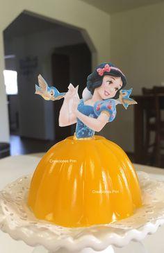 Gelatina de princesa Blancanieves . Sabor Mango