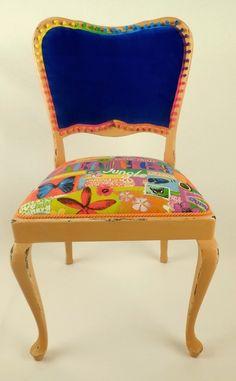 Chair ''Carib Jan'' Chippendale Vintage Shabby Alt von www.motleychairs.de auf DaWanda.com