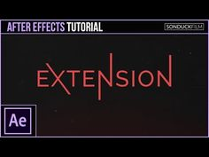 After Effects Tutorial: Animated Extended Text - Motion Graphics - YouTube