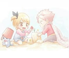 """""""Can you draw these two, dear Lucy-Chan?"""" >////<"""