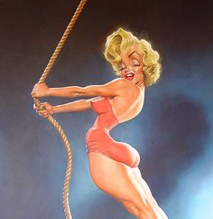 Marilyn Monroe by Sebastian Krüger (Germany) - Pin Up - Caricature Marylin Monroe, Marilyn Monroe Artwork, Cartoon Faces, Funny Faces, Cartoon Art, Cartoon Makeup, Caricature Artist, Caricature Drawing, Funny Caricatures