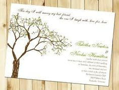 tree wedding invitations - Google Search
