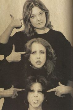 The original SNL women cast members: Jane Curtin, Laraine Newman, and Gilda Radner.