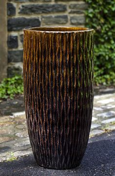 Round Palisades Planter in Cognac by Campania International