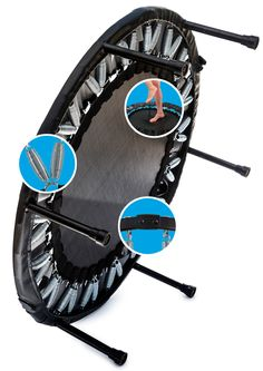 We had one of these when I was a kid. The best rebounder in mini-basketball games could have unfair advantages because of devices like this. Now I would probably just use it for jogging in place or other low impact exercise.