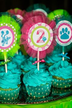 Blue's Clues Cup Cake Toppers - Set of 12. $12.50, via Etsy.