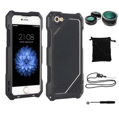 Find More Phone Bags & Cases Information about Dual Layer Metal Waterproof Shockproof Armor Case for iPhone 6 6s Tempered Glass Screen Protector with Fisheye Lens Lanyard,High Quality case for iphone,China armor case Suppliers, Cheap case for iphone 6 from Ascromy on Aliexpress.com