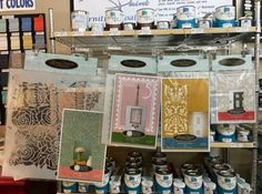 Check Out Our Stencil Selection At Grace Designs   Combine With Farmhouse Paint To A Designer Look On Your Furniture Pieces  All Available in the Grace Designs Booth at White Elephant Antiques