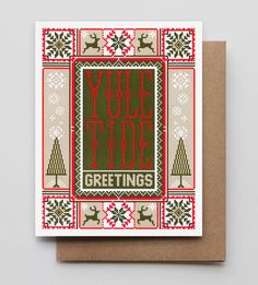 Graphic Design - Graphic Design Ideas  - Yule Tide Greetings Holiday Cards, 6-Pack by Hammerpress on Scoutmob   Graphic Design Ideas :     – Picture :     – Description  Yule Tide Greetings Holiday Cards, 6-Pack by Hammerpress on Scoutmob  -Read More –