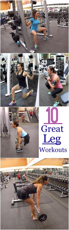 10 Leg Workouts to tone and strengthen those legs just in time for summer.