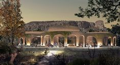 Cappadocia architectural projects, please visit our page to view project details and photos. Parametric Architecture, Classical Architecture, Thermal Hotel, Ecology Design, Geothermal Energy, Underground Cities, Cappadocia, Design Strategy, Burning Man