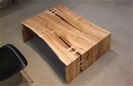 "maple reverse-matched bi-fold coffee table 49'' x 35-33"" x 16''h$3,200"