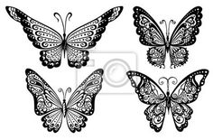 Lace butterfly tattoos! Yes please!
