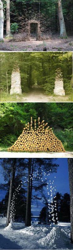 Gravity-Defying Land Art by Cornelia Konrads by justine