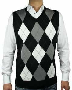 9813122d4ec5f Industries Needs — Blue Ocean Men s Ocean Argyle V-Neck Sweater Vest.