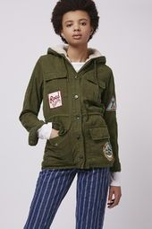 Badged Hooded Jacket