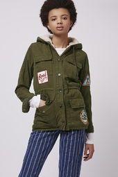 Badged Hooded Jacket