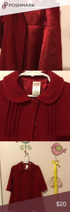 Wool dress coat (red) Beautiful and fancy!  Fully lined wool dress coat from Gymboree.  Excellent condition.  (It's a roomy coat and fit my daughter until she was three.) Gymboree Jackets & Coats Pea Coats