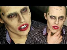JOKER SUICIDE SQUAD MAKE UP TRANSFORMATION - HALLOWEEN TUTORIALS 2016 - MARIAM LUSO - YouTube