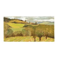 Tuscan View Stretched Canvas