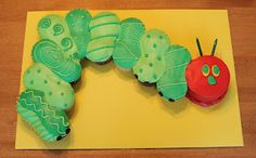 Creative Cakes by Lynn: The Very Hungry Caterpillar Cupcake Cake