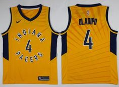 d44b3298683 Nike Pacers  4 Victor Oladipo Gold NBA Swingman Statement Edition Jersey  Indiana Pacers