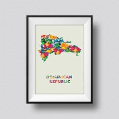 Dominican Republic Watercolor Map Art Print Dominican Republic Ink Splash Poster Art Canvas ♥ Please note that Frame is not included, they are Kunst Poster, Watercolor Map, Wall Maps, Pigment Ink, Map Art, Canvas Art, Gallery Wall, Art Prints, Etsy