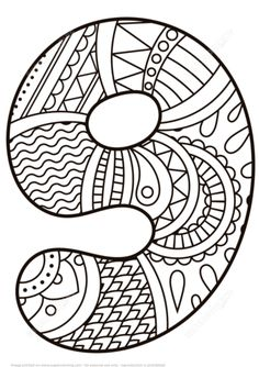 Number 9 Zentangle coloring page from Zentangle Numbers category. Select from 21162 printable crafts of cartoons, nature, animals, Bible and… Free Printable Coloring Pages, Coloring Book Pages, Coloring Pages For Kids, Coloring Sheets, Elephant Coloring Page, Alphabet Coloring, Numbers Preschool, Printable Crafts, Alphabet And Numbers