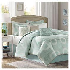 Luxury Seafoam Blue/Green Comforter Bedding Set w/Bed Skirt Shams & Pillows Green Comforter, Aqua Bedding, Kohls Bedding, Blue Duvet, Coastal Bedding, Bed Duvet Covers, Duvet Cover Sets, Pillow Shams, Duvet Sets