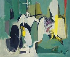 Franz Kline (1910-1962) 「 Grey Shapes on Green」 signed and dated 'FRANZ KLINE 48' (on the reverse) oil on masonite 20 x 24 in. (50.8 x 61 cm.) Painted in 1948. Estimate : 80,000 - 120,000USD