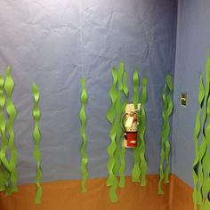 Ocean unit mural (the kids will be making ocean animals to put in their ocean)