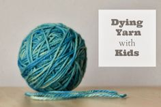 Dying yarn tutorial. Just in time to make gifts for the holidays.