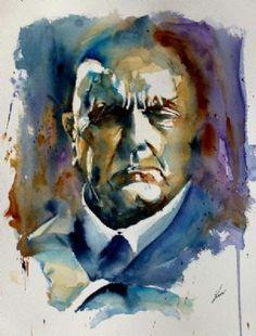 Portrait of Sibelius by Kim Sommerschield  http://www.extramoeniart.it/all-arount/acquarelli-creazione-e-ricreazione-intervista-a-kim-sommerschield