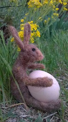 needle felted bunny (16cm)