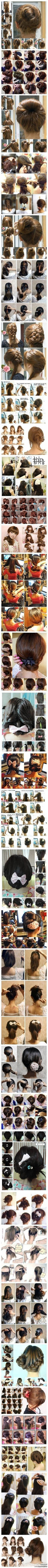 32 Hairstyles You Can Do On Yourself ❤ i kinda miss fixing my hair ^_^