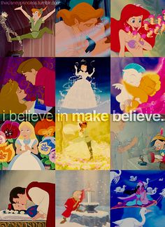 the disney princesses. Believe in make believe ♥