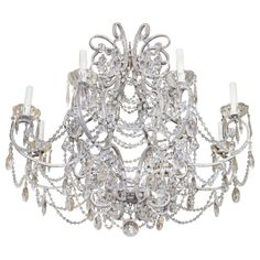 Monumental Italian Crystal Beaded Chandelier   From a unique collection of antique and modern chandeliers and pendants  at http://www.1stdibs.com/furniture/lighting/chandeliers-pendant-lights/