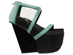 Gold Dot Fran Wedges in Aqua at Solestruck.com  These are calling to me #solestruckpdx